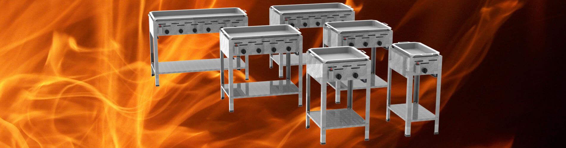 Stand-Gastrobräter mit Pfanne 1-flammig bis 6-flammig