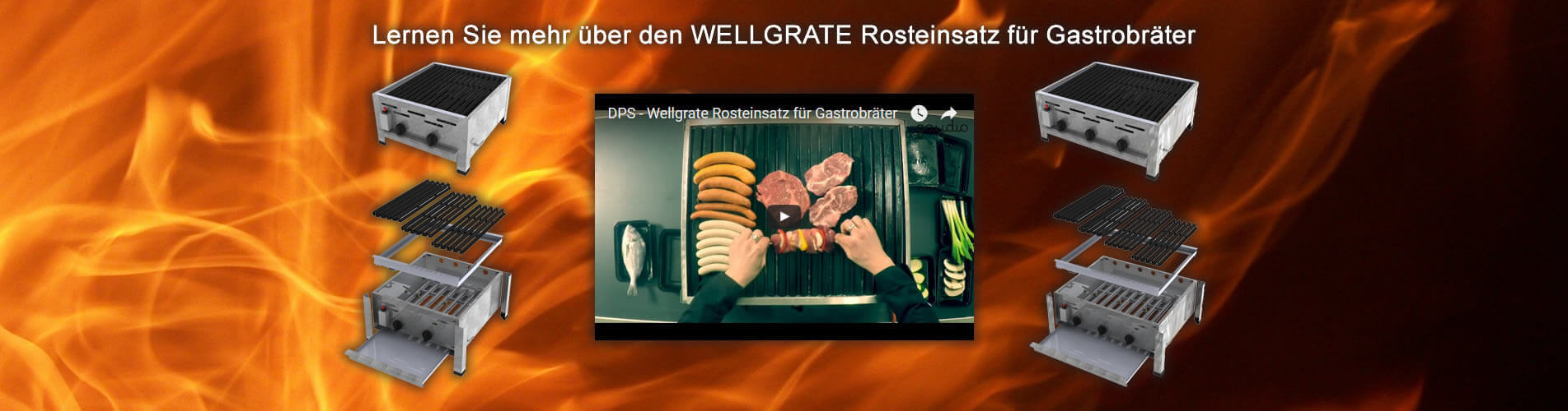 Lernen Sie alles über den DPS Wellgrate Rosteinsatz für Gastrobräter von Dross Professional Service