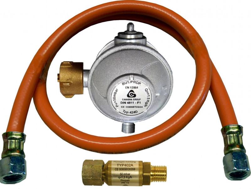 Anschlussgarnitur für Gasgeräte G 1/4LH-ÜM x SRV 8mm