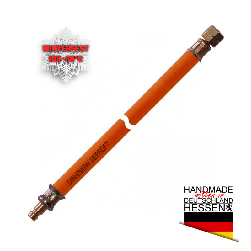 Gasschlauch MD-Schlauch winterfest G 1/4LH-ÜM x Stecktülle f. Gaskupplung