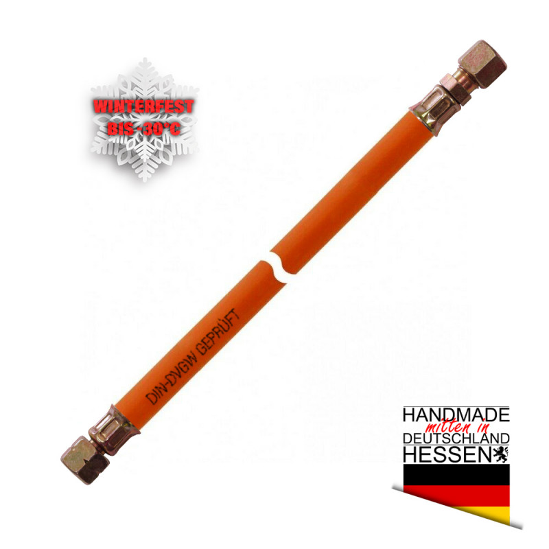 Gasschlauch MD-Schlauch winterfest G 1/4LH-ÜM x SRV 10mm (Schneidring)