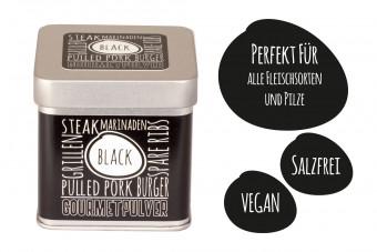 Gourmetpulver - Black, 70g Würfeldose