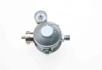 Gewerbe Niederdruck Gasregler zweistufig mit Manometer 50 mbar
