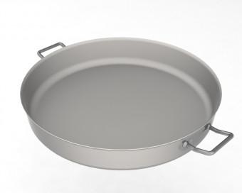 Edelstahlpfanne 60cm für Hockerkocher