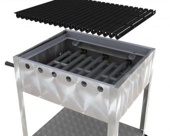 Wellgrate Gasbräter 3-flammig 13,5 KW mit Untergestell